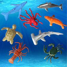 8PCS Plastic Sea Marine Animal Figures Ocean Creatures Shark Whale Kids Toy UK-1