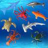 8pcs Plastik Meer-Meerestier Figuren OzeanKreaturenShark Whale Kids Spielzeug hy