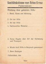 WW2 Allied German First aid Label - German Sanitätskolonne vom Roten Kreuz label