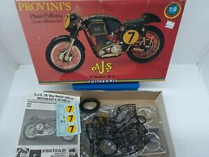 "Protar A-J-S 7R ""Boy Racer"" 350 cc Motorcycle Model Kit 1/9"