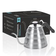 1,2L Wasserkessel mit Thermometer;  Handbrüh Wasserkocher Kaffeekessel Teekessel