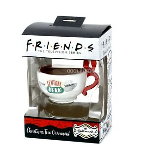 """Hallmark Friends TV Show Central Perk Coffee Cup Ornament with """"Coffee"""" in Cup"""