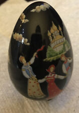 Beautiful Collectible Hand Painted Decorated Egg W/ Stand only by 88Fm