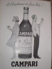 Campari A Compliment to good taste cartoon advert 1964 ref AY