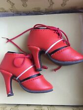 Ellowyne Wilde SHIRRED STEP SHOES in RED Wilde Imagination NEW