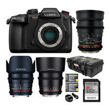 Panasonic Lumix GH5s C4K /4K UHD 422 10-bit, DC-GH5S Mirrorless +3-Lens Cine Kit