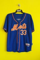 NEW YORK METS #33 MATT HARVEY MAJESTIC MLB BASEBALL JERSEY MEN - 50