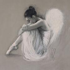 Hazel Bowman - Angel Wings IV - Ready Framed Canvas 40x40cm
