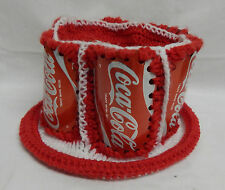 COCA-COLA COKE - ONE OF A KIND HAT - CROCHETED - RED AND WHITE - COKE CAN