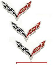 "Corvette Racing Team Super Sports Logo: CORVETTE RACING C-7 Iron-On 3-PC 2"" Set"