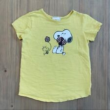 Hanna Andersson Yellow Peanuts Snoopy T-Shirt Girls Size 120, 6-7