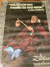 "Louie Bellson Zildjian Cymbals 24.5 x 35""  Drummer Promo  Poster"