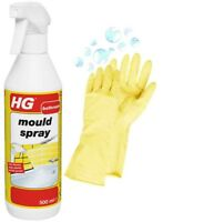 HG Mould Spray Shower Bath Cleaner Damp Remover & Household Cleaning Wash Gloves