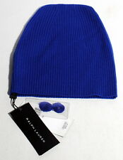 Ralph Lauren Black Label 100% Wool Blue Skull Cap Hat Italy $295 A3F