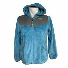 The North Face Girls Fuzzy Blue Fleece Jacket XL