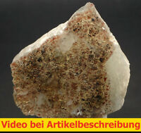 6107 Fluorite Fluorit 7*7*2 cm Grube Hermine 1980 Wölsendorf Bavaria BRD  VIDEO