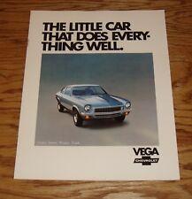 Original 1972 Chevrolet Vega Sales Brochure 72 Chevy Coupe Sedan Wagon Truck