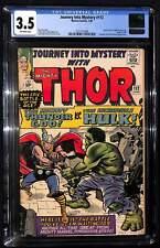 Journey Into Mystery #112 CGC 3.5 Origin of Loki, Classic Thor vs. Hulk battle i