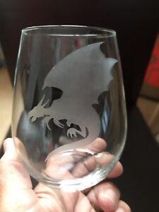 Stemless Wine Glass - Dragon  ***SEE ITEM DESCRIPTION ***
