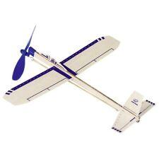 goki 15505 Segelflugzeug Eagle Jet, L= 35,5 cm, Balsaholz, mit Gummimotor, blau/