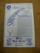 22/09/1962 Shrewsbury Town v Bournemouth  (Faint Crease). Thanks for viewing thi