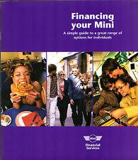 Rover Mini Finance Options 1998 UK Market Sales Brochure