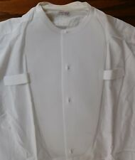 Moss Bros mens vintage starched tunic shirt size 14.5 collarless formal dress