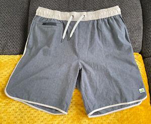 "Vuori Banks Shorts Grey Linen Texture Large 7.5"" Inseam Unlined MINT CONDITION"