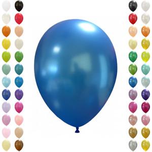 25-1000 Stk. Luftballons Metallic / Standard 27 cm aus 100% Bio-Latex für Helium