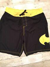 Batman Men's Swimming Board Shorts Size 36 Swim Trunks EUC