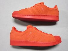 ADIDAS ORIGINAL SUPERSTAR MONO PERF ALL RED SNEAKERS SHOES SIZE 13 NEW S79475