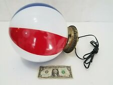 """Vintage Hanging 10"""" Globe Ceiling Light Fixture Red White Blue US Flag W/O Chain"""