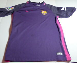 Nike FCB Soccer Jersey Dri-Fit  Polyester Youth L Unicef beko unhemmed sleeves