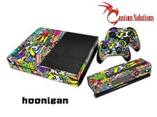 XBOX 1 ONE CONSOLE & CONTROLLER DECAL STICKER SKIN SET - STICKER BOMB HOONIGAN