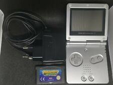 Nintendo Game Boy Advance SP Silber Handheld-Spielekonsole + Spiel Mario Party