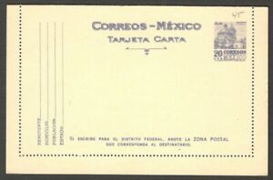 Mexico 1953 20c lettercard unused. HG #A45