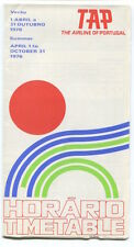 TAP AIR PORTUGAL TIMETABLE SUMMER 1976 HORARIO TP