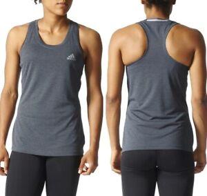 Adidas Top Tanque de Mujer Singlet Fitness Running Camiseta Achsel Gris