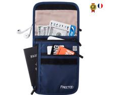 Pochette  portefeuille porte-monnaie tour de cou anti–vol Idéal pour les voyages