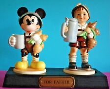 "LE Goebel Porcelain Figurines - ""FOR FATHER"" from the 1995 Disneyana Convention"