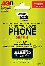 Straight Talk Bring Your Own Phone SIM Activation Kit