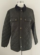 NEW Barbour for JCrew Collaboration Tinford Quilted Jacket Coat Olive S E0548