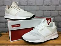 NEW BALANCE MENS UK 7 EU 40.5 247 V2 WHITE TRAINERS RRP £80 LG