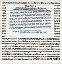 (FI60) Dead Pixels, Words are Poison (debut) - 2008 DJ CD