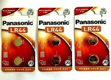 PANASONIC LR44 Coin Cell Button Batteries 3 x carded (6 batteries) Exp: 08/2021