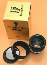Nikon Nikkor F AiS 85 mm f/1,4 manuell * FX * OVP * HN-20