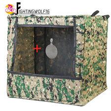 Airsoft Box-type Target Case + Dia 3mm Bullseye Foldable Shooting Practice Box