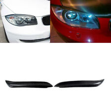 Fit for BMW E87 128i 135i 120i Carbon Fiber Headlight Eyebrows Eyelids 2005-2011