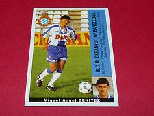 M.A. BENITEZ ESPANYOL BARCELONA PANINI LIGA 95-96 ESPANA 1995-1996 FOOTBALL