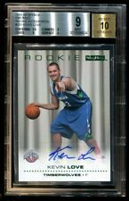 2008-09 Skybox KEVIN LOVE Rookie Emerald Auto #/5 BGS 9